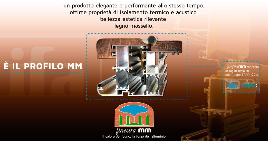 profilo alluminio legno mm ifa infissi