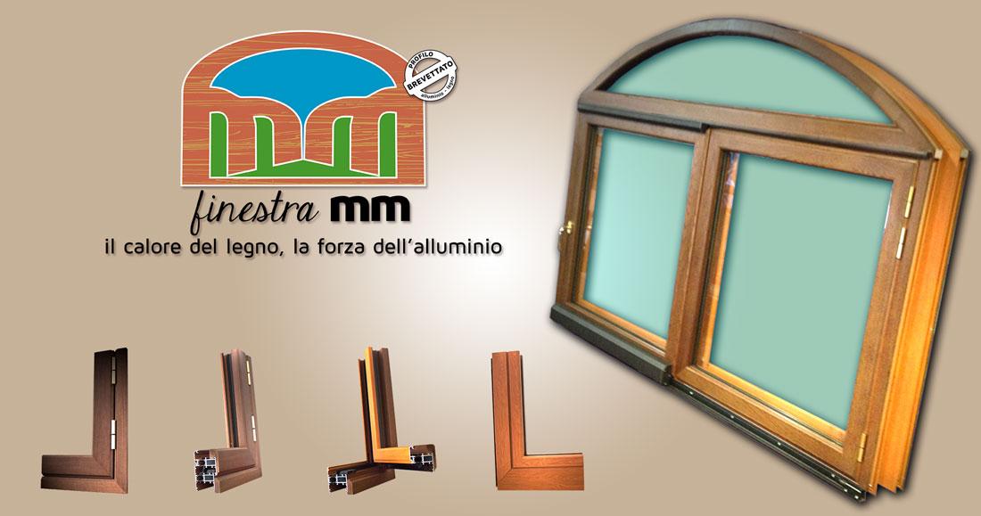 finestra alluminio legno mm ifa infissi